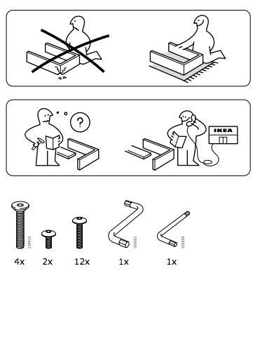 Prima pagina di un manuale di istruzioni Ikea